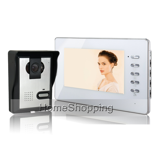 FREE SHIPPING Brand New 7 inch Color Screen Video Door phone Intercom System 1 Doorbell Camera 1 White Monitor Unlock IN STOCK набор принадлежностей bosch v line 83 предмета [2607017193]