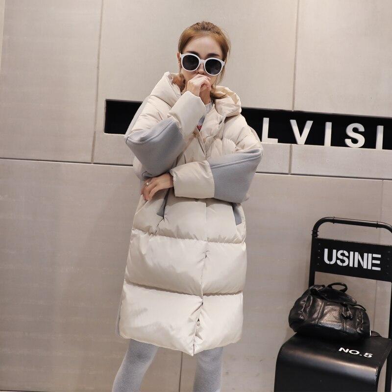 Veste Femmes Capuchon Coréenne À Épaississement Nouvelle Mode black Coton Neige Bas Chaud 2016 Manteau Hiver Manteaux Le Beige Long Parkas De Outwear Vers D174 tIF8wxIZq
