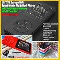 """1.8 """"TFT Pantalla 100% 4 GB HiFi Deporte Reproductor de Música Mp3 con TF/Ranura Para Tarjeta SD (Max apoyo a 32 GB), FM, Grabadora, Libros Electrónicos, 80 H tiempo de trabajo"""