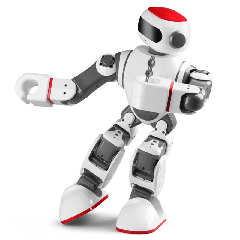 все цены на LEORY Voice Control Robot Intelligent Humanoid App Control RC DIY Robot Voice Recognition Toys For Children Kids Gifts Present онлайн
