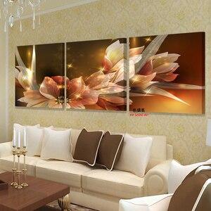 Cuadros modernos de lienzo para pared en la sala de estar para dormitorios imágenes artísticas Pintura modular al óleo impresos en la decoración del hogar imagen de flores