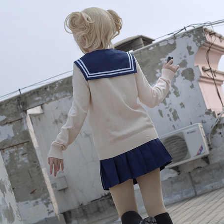 Anime meu herói academia boku nenhum herói academia himiko toga jk uniforme saias camisolas femininas cardigan trajes cosplay terno