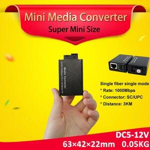 Image 1 - Bliy 1 paire gigabit fibra optique vers rj45 UTP mini convertisseur de média 3km 1310/1550 fibre vers ethernet commutateur fibre interrupteur