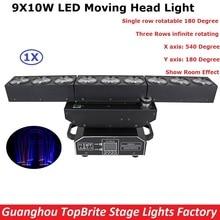 1 Paczka Nowy Projekt 9X10 W RGBW Quad Kolor LED Matrix Deformacji światła CREE LED Chip Efekt Moving Head Lights Z Show Room