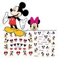 2016 New Mickey Minnie Etiquetas Engomadas Del Clavo de Transferencia de Agua 3D Pegatinas Decoración Niños Pegatinas de Dibujos Animados Lindo para Gel UV Esmalte de Uñas