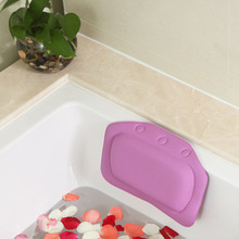 4 Colores Suministros de Baño impermeable bañera bañera de hidromasaje almohada con ventosas Head Neck Rest almohadas Hogar y Jardín