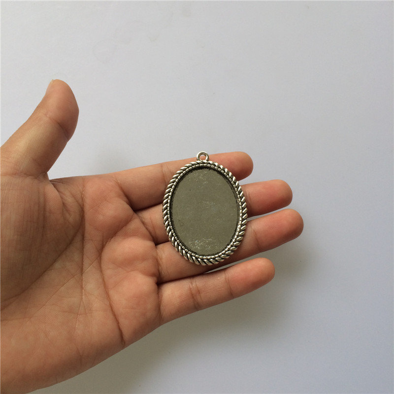10 pcs of Antique Bronze Lovely Oval Base Settings Match 13x18mm Cabochon A3965