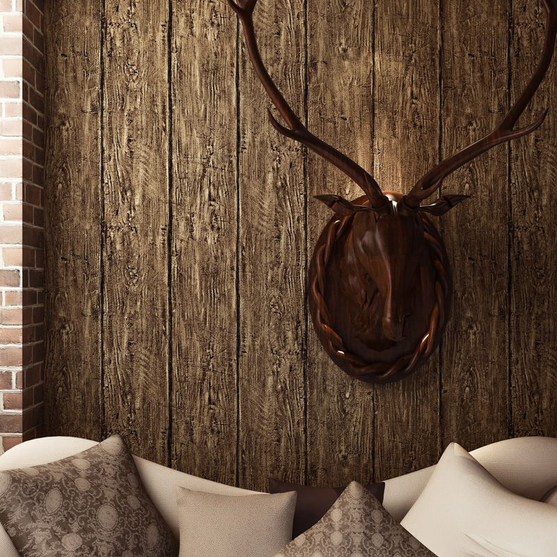 3D Wallpaper Modern Personality Wood Texture PVC Waterproof Wall Paper Cafe Restaurant Background Wall Decor Art Wallpapers Roll vintage wallpaper modern 3d embossed imitation wood texture wall paper rolls for walls restaurant cafe background wall cocvering