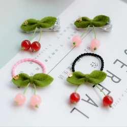 Новый Cherry принцессы BB заколки 2 шт./компл. Детские эластичные резинки для волос Детские волосы канаты девушки аксессуары для волос J16