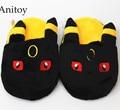 Anime Cartoon Monsters Pikachu Umbreon Eevee Sylveon Casa Felpa Zapatillas de Casa de Invierno Zapatos de Interior Suaves Juguetes De Peluche AP0114