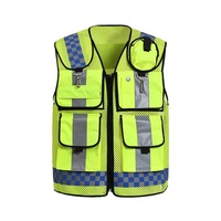 Multi functional pocket night reflective safety clothing Reflective traffic breatable mesh vest printable