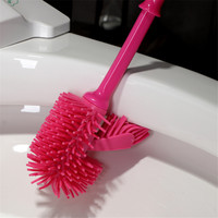 Plastic Toliet Cleaner Brush Bathroom Cleaning Dup Duplex Strong Decontamination Toilet Brush Holders