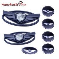 Matte Black ABS Sticker Wing Center Emblem Badges Set Kit Fit For 2010 2011 2012 2013