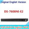 DHL Бесплатная Доставка DS-7608NI-E2 NVR Видеонаблюдения Сетевая камера 8 канала NVR Сетевой Видеорегистратор Поддержка 2 HDD 5.0MP