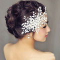Bridal Tiara Women Jewelry Pearl Rhinestone Pave Crown Wedding Hair Accessories for  Women Headband Pearl Flower Headpiece Z0815
