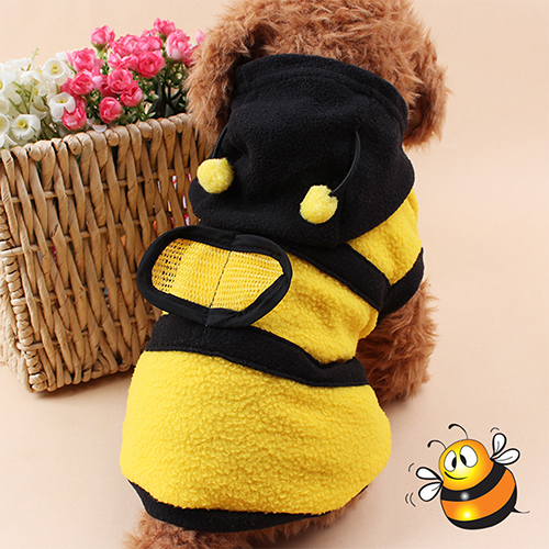 Hot!  Pet Hoodie Clothes Cute Fancy Puppy Apparel Costume Cat  Coat Outfit Bee Style