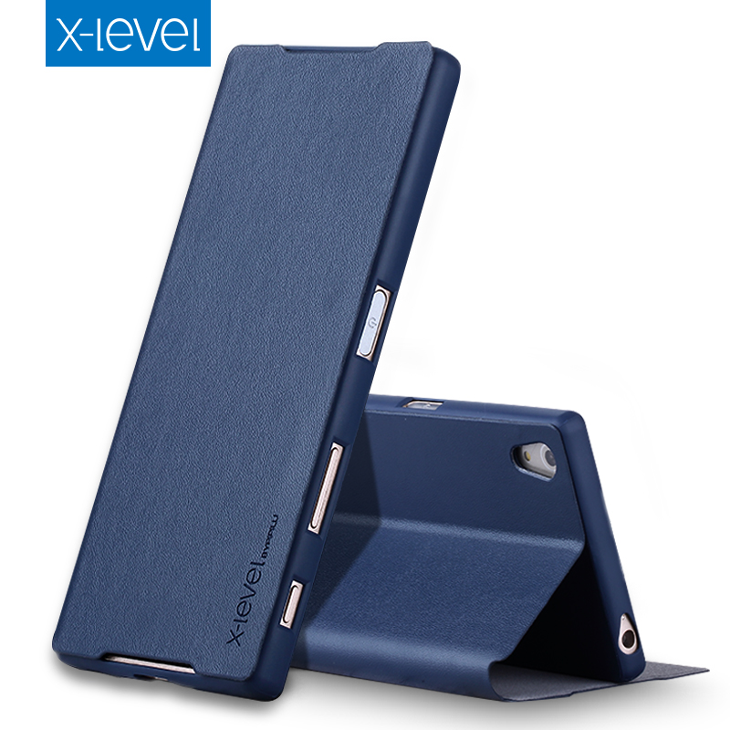 bilder für Luxus X Ebene Hochwertige Klassische Flip Ledertasche Für SONY Xperia XA1 XA1 Ultra mit Kleinkasten