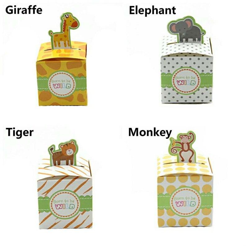 Сафари, животные, коробка для конфет, коробка для мальчиков и девочек, детские товары для дня рождения, для украшения детского душа, Подарочная коробка для мероприятий, вечерние принадлежности