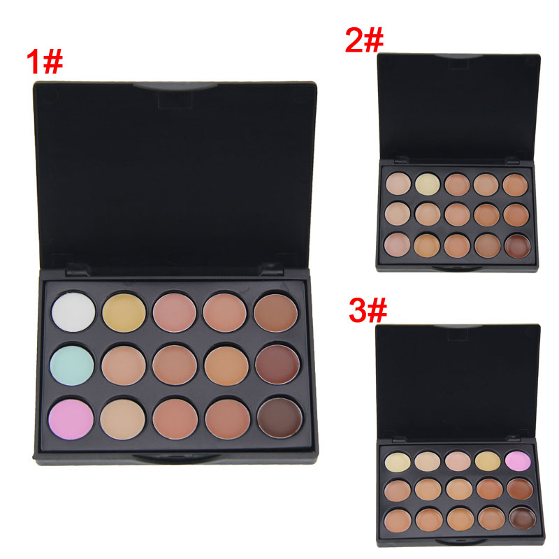 2016 New Professional 15 Color Concealer Palette Make Up Cream Camouflage Foundation Cosmetic