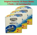 18 Cartridges/lot = 3 packs AAAAA Original Genuine New Package Shick Protector 3d diamond for men razor blade in stock