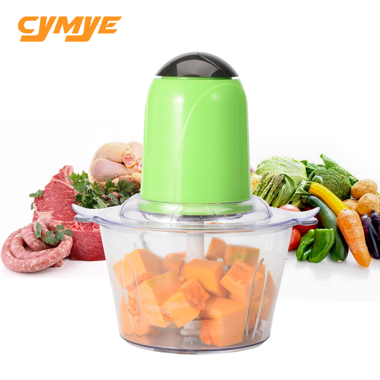 Cymye 2L Electric Stainless Steel Kitchen Meat Grinder Chopper Cocina Shredder
