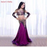 2018 New Luxury Belly Dance bra + skirt Set 2pcs For Kids / Children / Girls Sexy Handmade Belly Dance long skirt