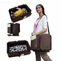 New Style Fashion Nylon 3 color Tote Bag Baby Bed Print Zipper Maternity Bags Large Wet Bag for Women Mommy