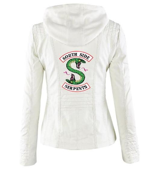 Riverdale Southside Riverdale Serpents black Brown PU Leather Jacket Women Riverdale Serpents Streetwear Leather Brand Coat 13