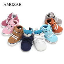 Baby Boy Girls Cute Casual Baby Shoes Toddler Amozae Newborn Baby Girls Autumn Fox Head Lace First Walkers Warm Sneakers Shoes