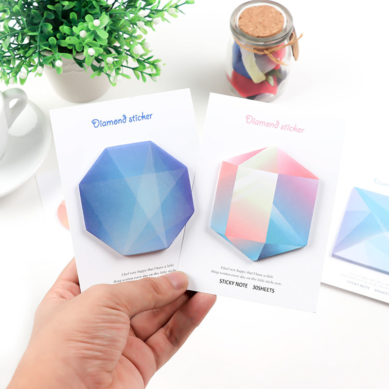JUKUAI 36 Pcs/Lot Diamond Sticky Notes Decorative Color Memo Note Message Stick Marker Planner Stationery School Supplies 8055