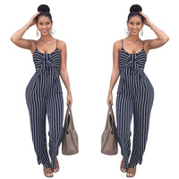 VAZN Women 2017 Hot Fashion Summer Rompers Sexy Backless Full Length Jumpsuit Overalls For Women Casual