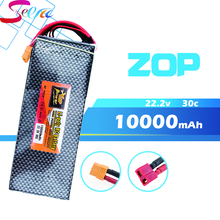 10PCS 22.2V 6s ZOP Lipo battery 10000mAh 30C max 35C Xpower XT60 T EC5 XT90 plug for rc drone Helicopter Airplane parts