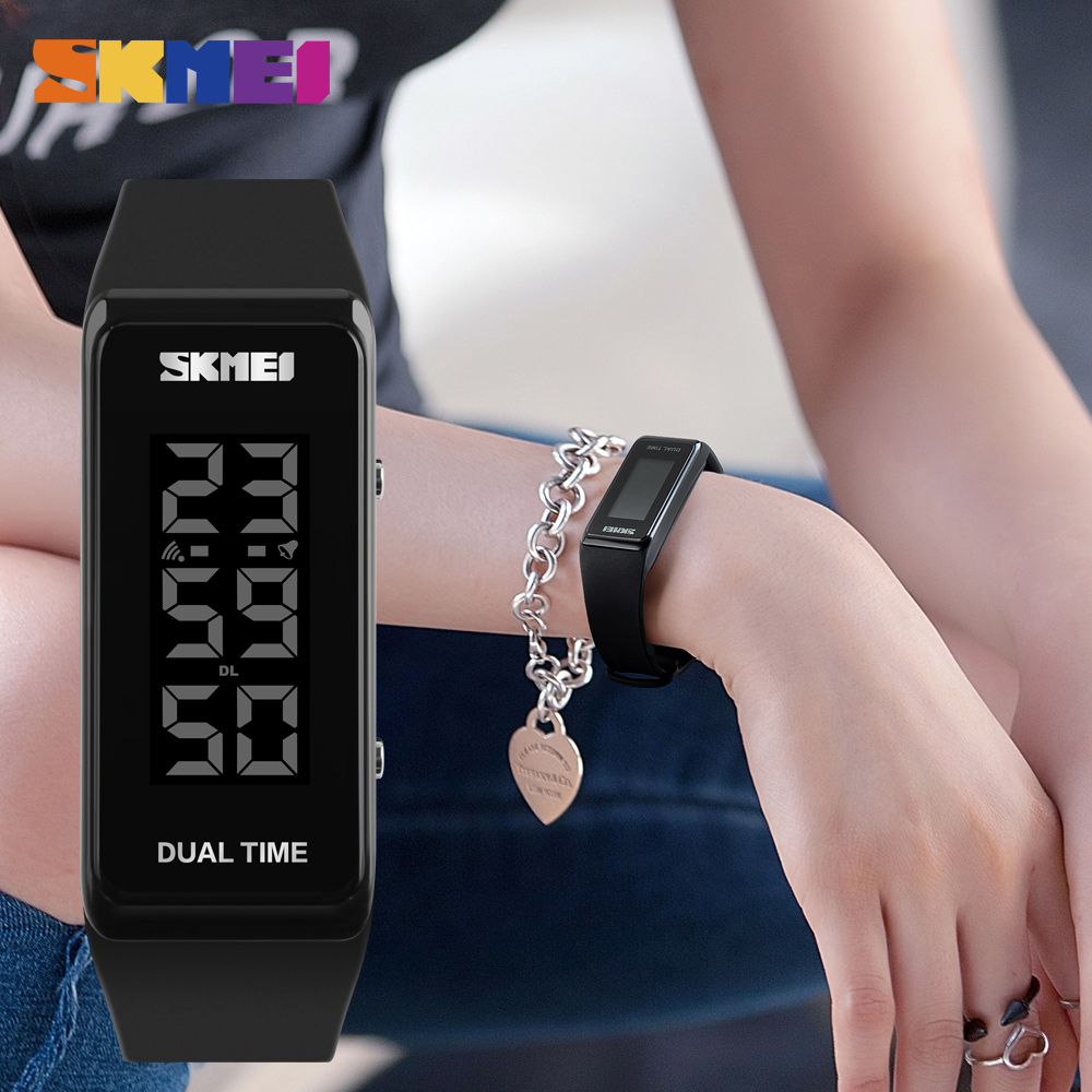 Digital Watches Watch Men Multifunction Skmei Waterproof Led Electronic Digital Sports Watches Fashion Wristwatches Outdoor Chronograph Compass Jade White Watches