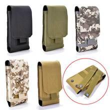 Pochete universal para celular, bolsa de cintura estilo exército, tática, militar, de nylon, para samsung, iphone, oneplus 6 6t capa nokia,