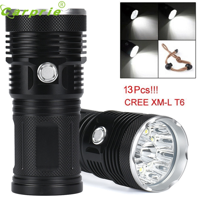 Super 32000LM 13x CREE XM-L T6 LED Flashlight Torch 4x 18650 Hunting Light Lamp 170126 cree xm l t6 flashlight 5mode 3800lm led tactical torch light waterproof hunting flashlight lantern zaklamp taschenlampe torcia
