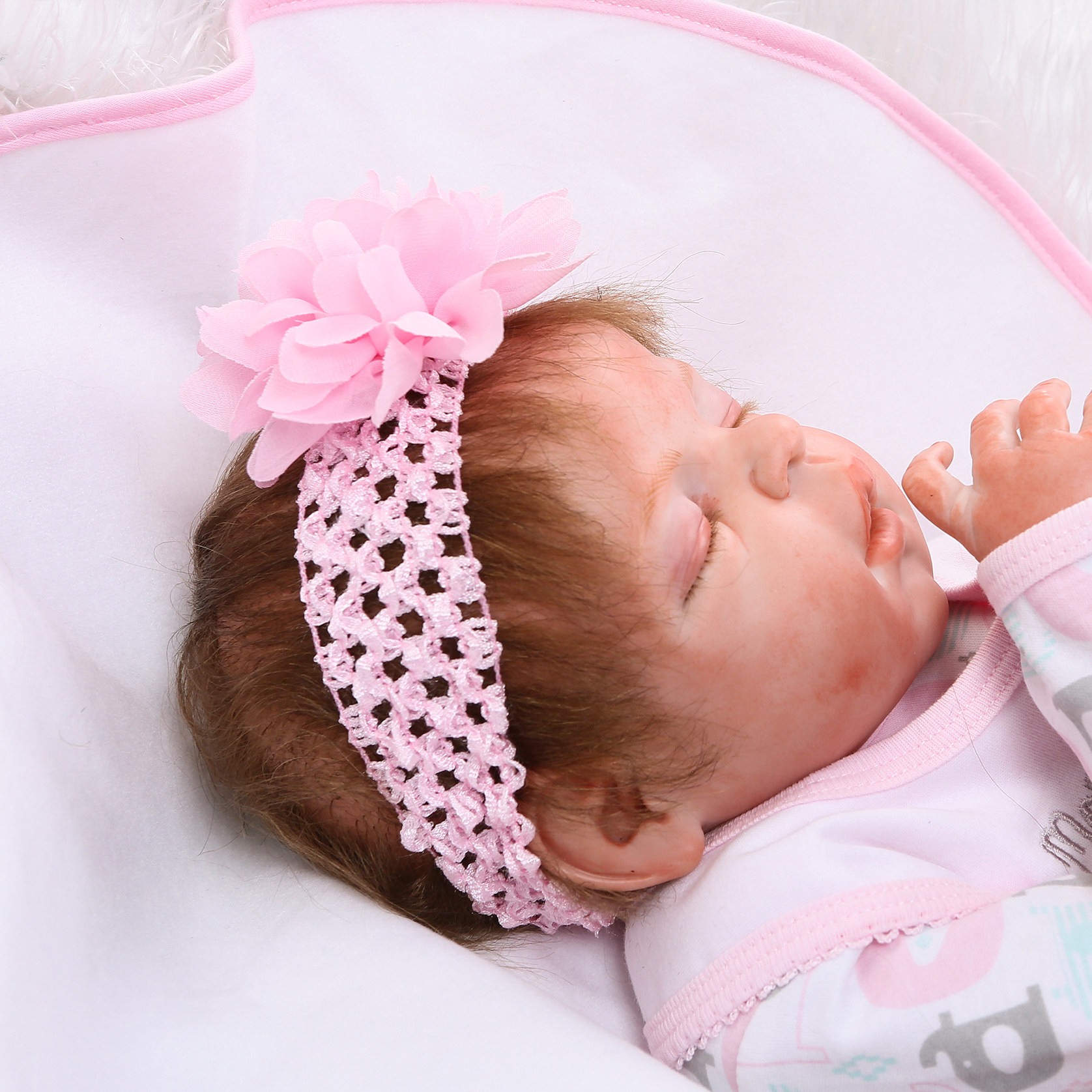 Image 4 - 48CM bebe realistic reborn premie baby doll hand detailed painting pinky look full body silicone Anatomically Correct-in Dolls from Toys & Hobbies