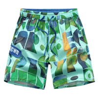2017 new nhãn hiệu men quần short mùa hè bãi biển loose Thể Dục của Nam Giới shorts fashion cotton bán buôn in causel quần short