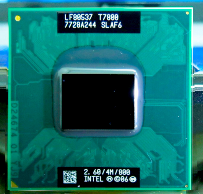 Original <font><b>T7800</b></font> intel core 2 duo processor <font><b>t7800</b></font> 4M 2.60 GHz 800 MHz CPU compatible with 965 chipset image