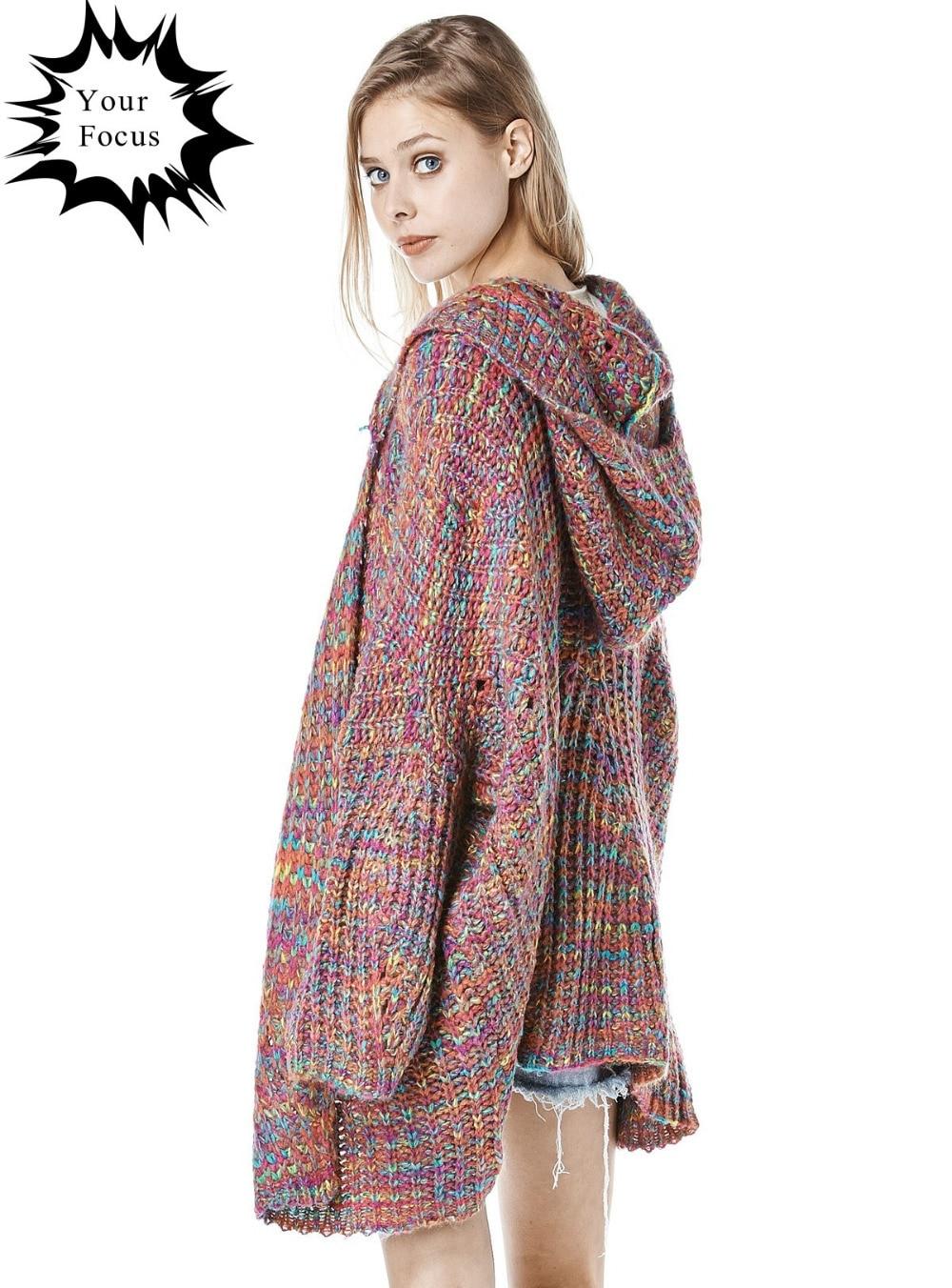 2017 fashion brand harajuku punk RAYA HOODED multicolour oversized ...