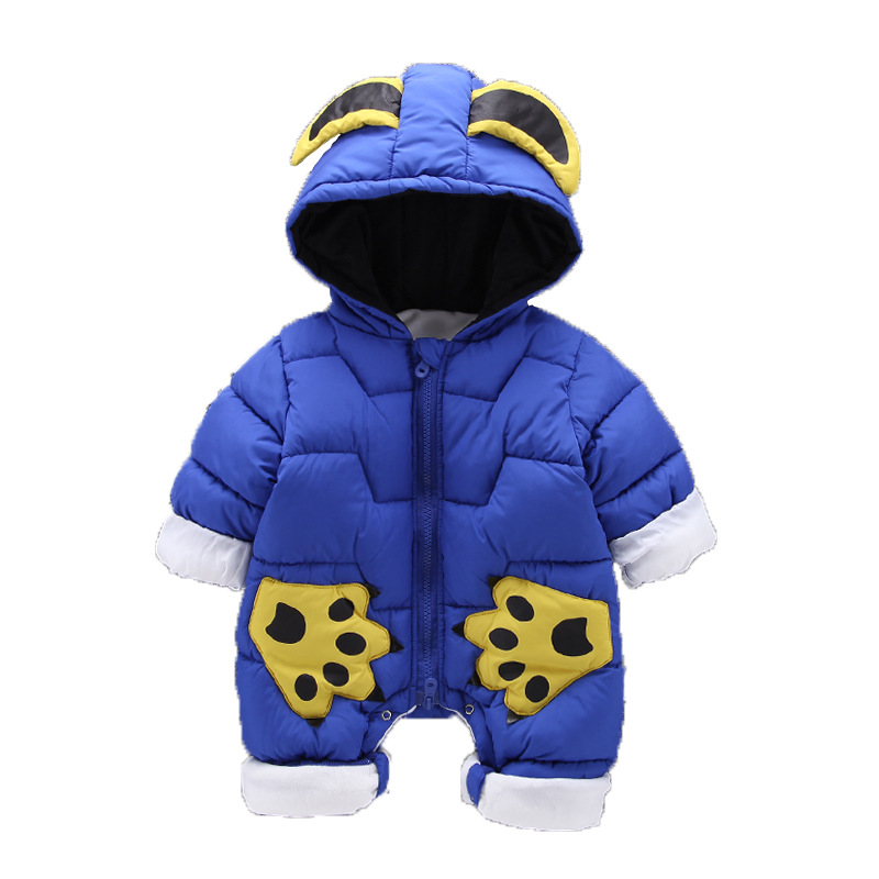 Baby Rompers Winter Thicken Baby Clothing 2018 New Infant Rompers Newborn Jumpsuit Hooded Warm Children Outdoor Rompers Clothes bibicola baby rompers new winter infant bebe girls boys warm rompers jumpsuit clothes newborn baby long sleeve hooded rompers