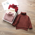 Han edition baby turtle neck sweater knit unlined upper garment of the girls fashion new thickening render unlined upper garment