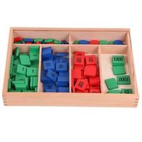 Montessori Wooden Toys Montessori Stamp Game Montessori Math Materials Learning Supplies For Kids Juguetes Brinquedos YG1064H