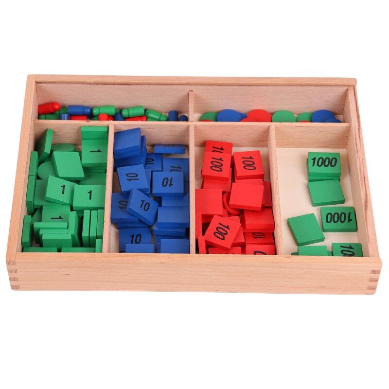 Montessori jouets en bois Montessori timbre jeu Montessori mathématiques matériaux d'apprentissage fournitures pour enfants Juguetes Brinquedos YG1064H