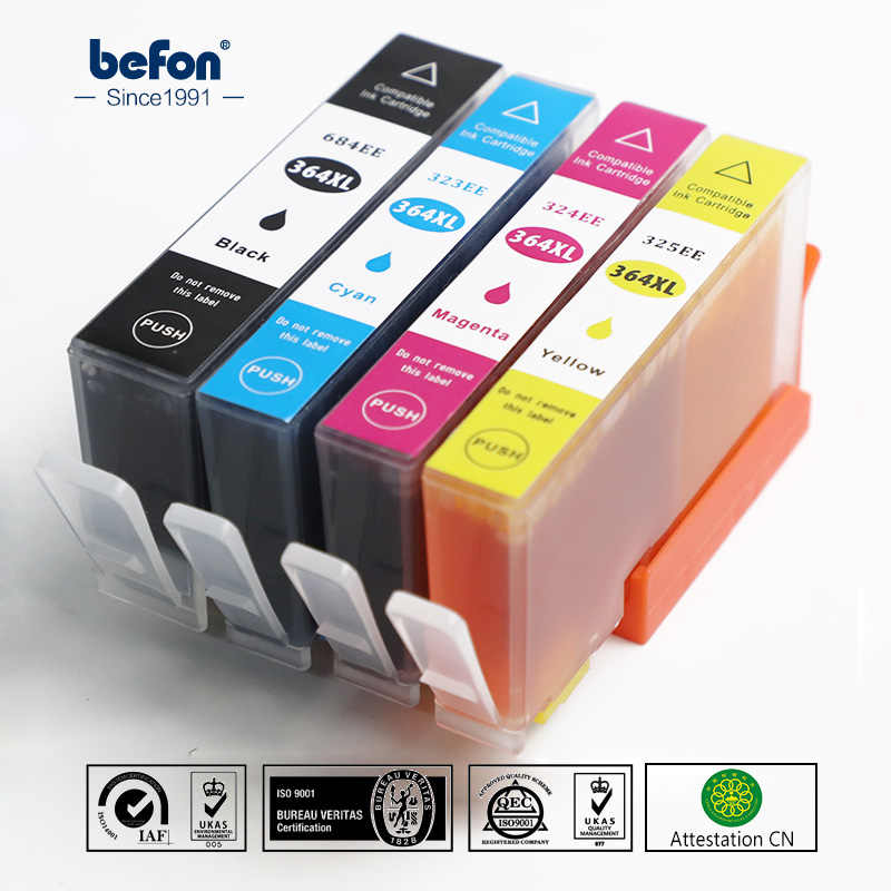 Befon Kompatibel 364 XL Cartridge Pengganti HP 364 HP364 684EE Tinta DeskJet 3070A 5510 6510 B209a C510a Printer