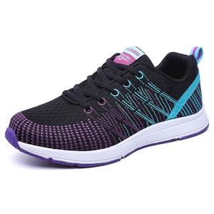 Image 3 - Mulher correndo sapatos de ginásio 2020 tênis esporte respirável chaussures femme cesta rendas até zapatillas mujer calzado luz
