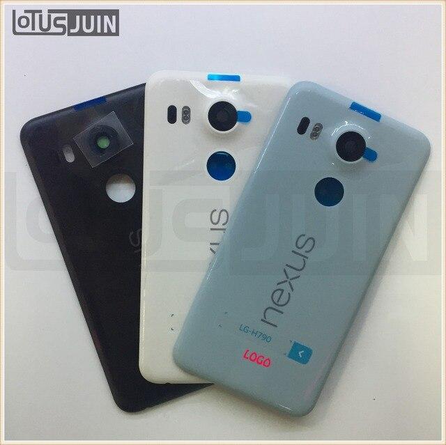 1 шт. Для LG Google Nexus 5X Задняя Крышка Батареи Задняя Дверь Дело Жилищного Замена Части