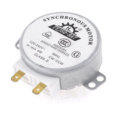 AC 220-240V 50/60Hz 4Watt 4RPM Micro Synchronous Motor for Microwave Oven