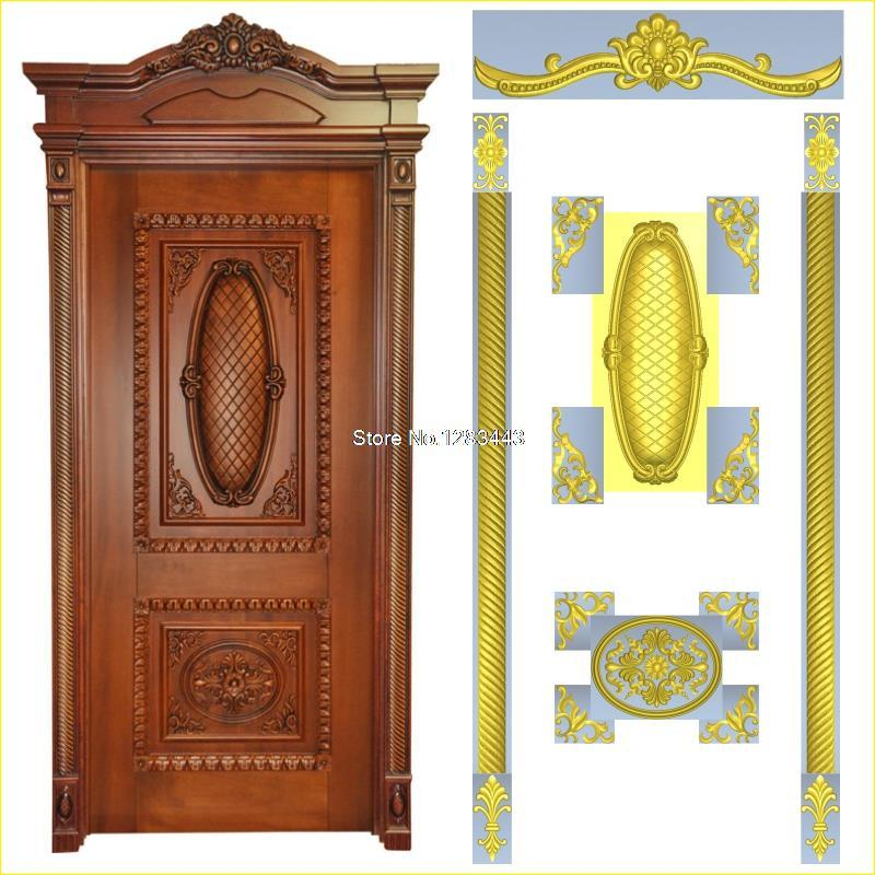 8pcs/lot Door_9 3D STL Format Furniture Decoration 3D Model STL Relief For Cnc STL Format Furniture