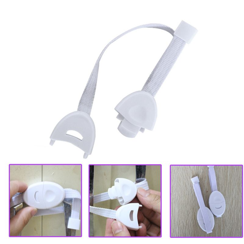 2 Pcs Baby Safety Locks Furniture Restrictor Kids Protection Cupboard Cabinet Fridge Door Lock-S006
