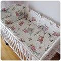 Personalize 100% algodão fundamento do bebê cama kit em torno de berço criança laguan capa de edredão do bebê roupa de cama de algodão